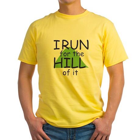 Funny Hill Running Yellow T-Shirt