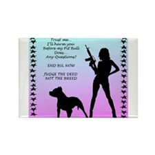 Ill Harm YOU END BSL Rectangle Magnet