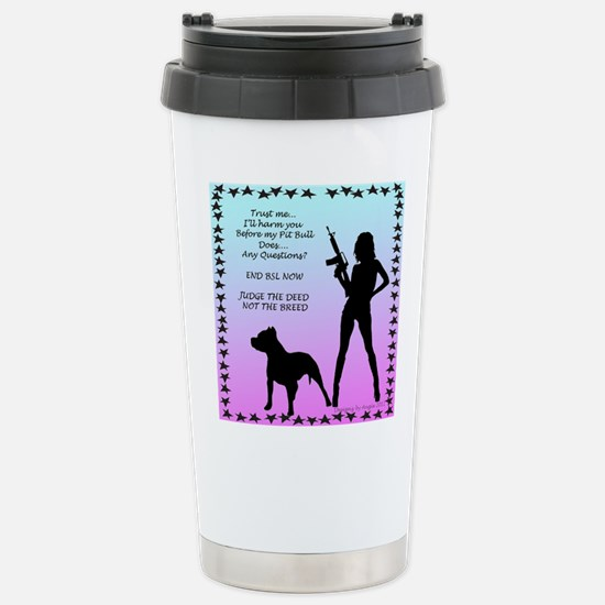 Ill Harm YOU END BSL Stainless Steel Travel Mug