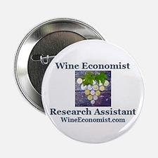 "Cute Wine economist researcher logo 2.25"" Button"