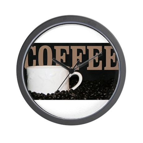 Coffee themed products wall clock by michaelpistnerphotography - Coffee themed wall clocks ...