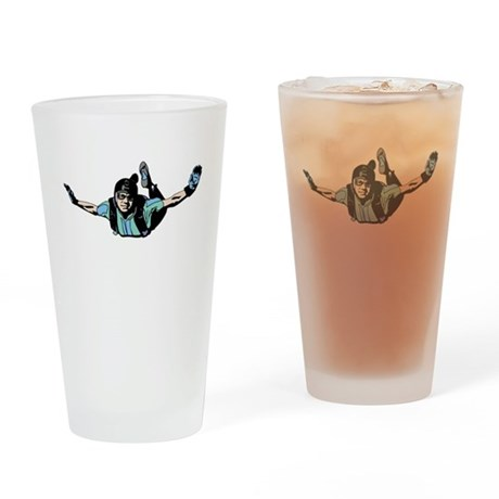 Skydiver Drinking Glass