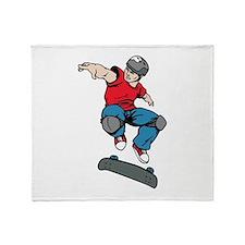 Skateboarder Throw Blanket