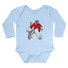 Hockey Goalie Long Sleeve Infant Bodysuit