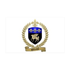 DUFRESNE Family Crest 38.5 x 24.5 Wall Peel