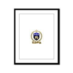 DUFRESNE Family Crest Framed Panel Print