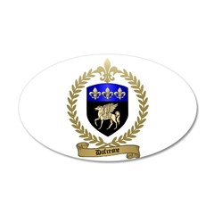 DUFRESNE Family Crest 38.5 x 24.5 Oval Wall Peel