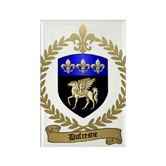 DUFRESNE Family Crest Rectangle Magnet (100 pack)