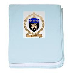 DUFRESNE Family Crest baby blanket
