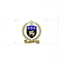 DUFRESNE Family Crest Aluminum License Plate