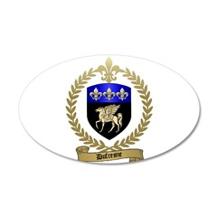 DUFRESNE Family Crest 22x14 Oval Wall Peel