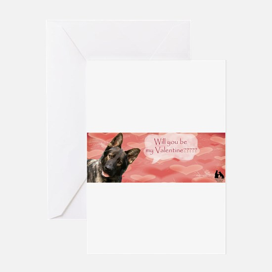 Cute German shepherd valentine Greeting Card