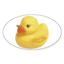 Rubber Duck Oval Decal