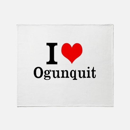 """I """"Heart"""" Ogunquit Throw Blanket"""