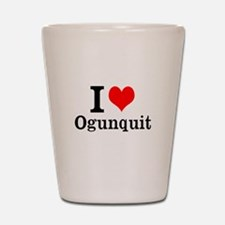 "I ""Heart"" Ogunquit Shot Glass"