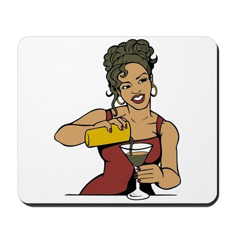 Sexy Bartender Mousepad