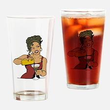 Sexy Bartender Drinking Glass