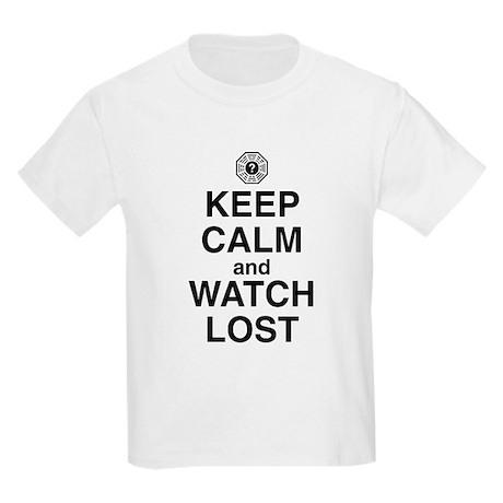 Keep Calm & Watch LOST Kids Light T-Shirt
