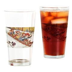 1890's Sledding Drinking Glass