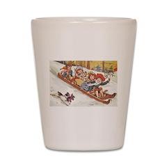 1890's Sledding Shot Glass