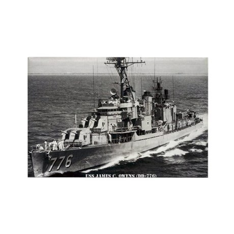 USS JAMES C. OWENS Rectangle Magnet