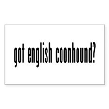 GOT ENGLISH COONHOUND Decal