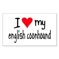 I LOVE MY English Coonhound Decal