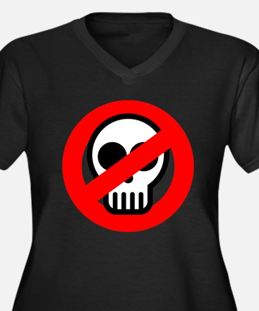 Ghost Buster Plus Size V-Neck Dark T-Shirt