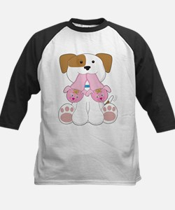Cute Puppy Slippers Tee