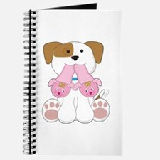 Cute Puppy Slippers Journal