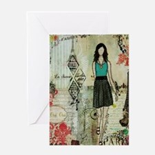 Belle Ville, Belle Dame Greeting Card