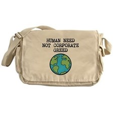 Funny Corporate greed Messenger Bag