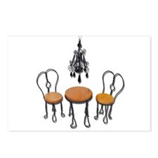 Chandelier Bistro Setting Postcards (Package of 8)