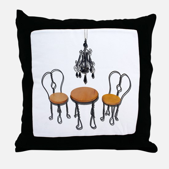 Chandelier Bistro Setting Throw Pillow