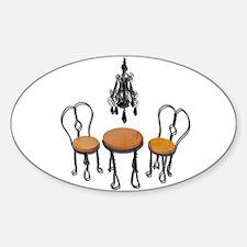Chandelier Bistro Setting Sticker (Oval)