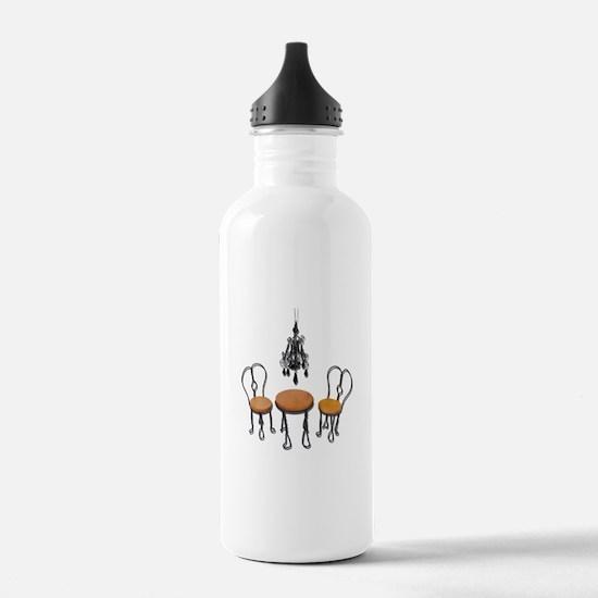 Chandelier Bistro Setting Water Bottle