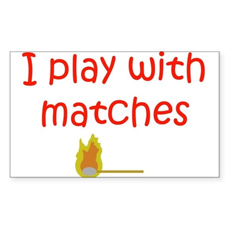 Matches Rectangle Sticker