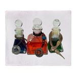 Colorful Potion Bottles with Throw Blanket