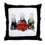 Colorful Potion Bottles with Throw Pillow