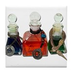 Colorful Potion Bottles with Tile Coaster