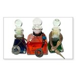 Colorful Potion Bottles with Sticker (Rectangle 50
