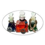 Colorful Potion Bottles with Sticker (Oval 50 pk)