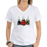 Colorful Potion Bottles with Women's V-Neck T-Shir