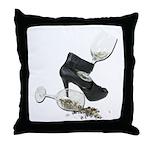 High Heel Wine Glass Stars Throw Pillow