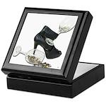 High Heel Wine Glass Stars Keepsake Box