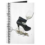 High Heel Wine Glass Stars Journal