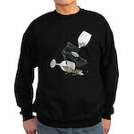 High Heel Wine Glass Stars Sweatshirt (dark)