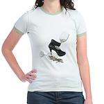 High Heel Wine Glass Stars Jr. Ringer T-Shirt