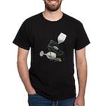 High Heel Wine Glass Stars Dark T-Shirt