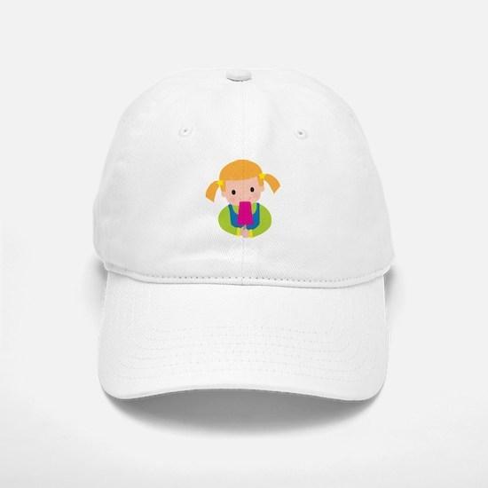 Little Girl Popsicle Baseball Baseball Cap